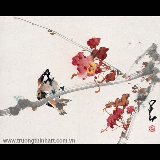 Tranh hoa cỏ và côn trùng - Mã: TMTHCVCT041