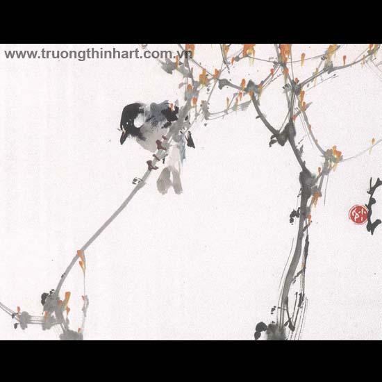 Tranh hoa cỏ và côn trùng - Mã: TMTHCVCT043