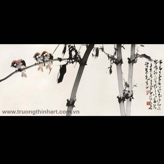 Tranh hoa cỏ và côn trùng - Mã: TMTHCVCT046