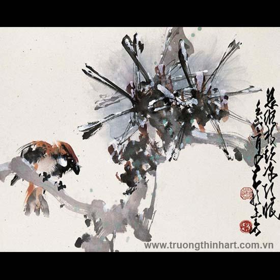 Tranh hoa cỏ và côn trùng - Mã: TMTHCVCT048
