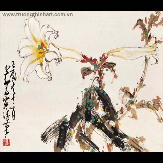 Tranh hoa cỏ và côn trùng - Mã: TMTHCVCT050
