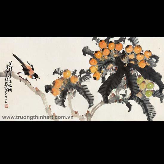 Tranh hoa cỏ và côn trùng - Mã: TMTHCVCT051