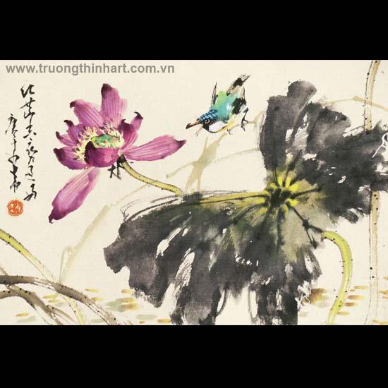 Tranh hoa cỏ và côn trùng - Mã: TMTHCVCT054