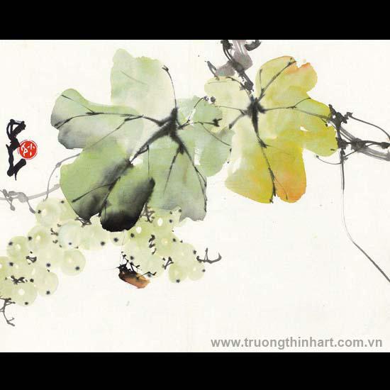 Tranh hoa cỏ và côn trùng - Mã: TMTHCVCT057