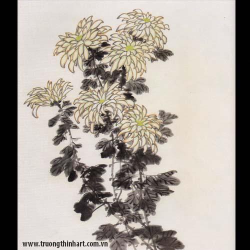 Tranh hoa Cúc - Mã: THC001