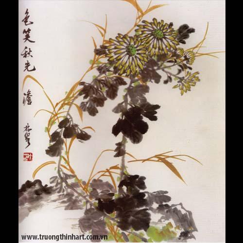 Tranh hoa Cúc - Mã: THC002