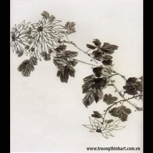 Tranh hoa Cúc - Mã: THC003
