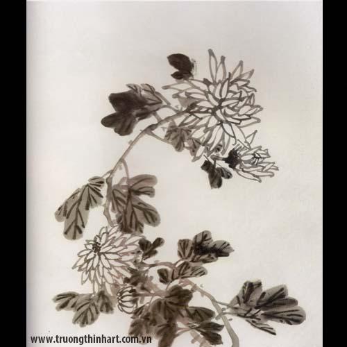 Tranh hoa Cúc - Mã: THC004