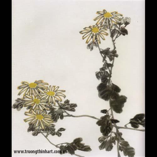 Tranh hoa Cúc - Mã: THC005