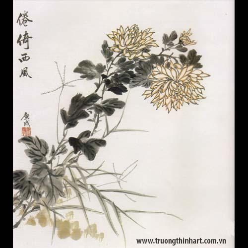 Tranh hoa Cúc - Mã: THC007