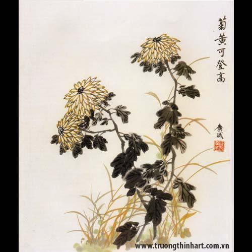 Tranh hoa Cúc - Mã: THC008