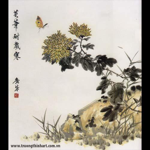Tranh hoa Cúc - Mã: THC009