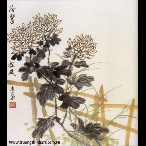 Tranh hoa Cúc - Mã: THC010