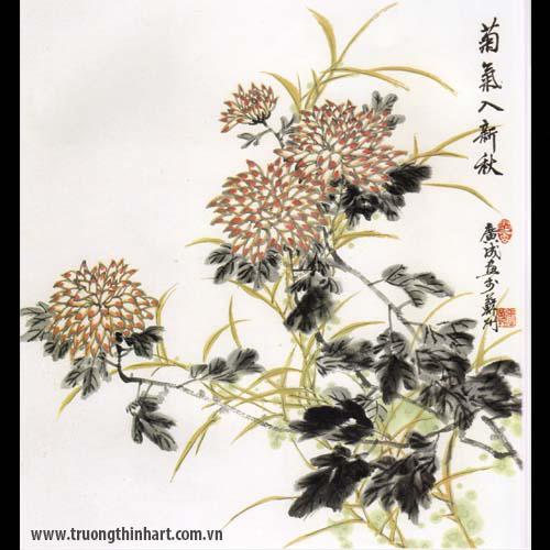Tranh hoa Cúc - Mã: THC011