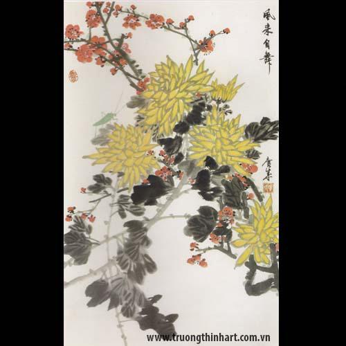 Tranh hoa Cúc - Mã: THC012