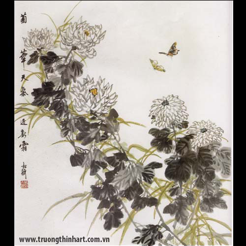 Tranh hoa Cúc - Mã: THC013