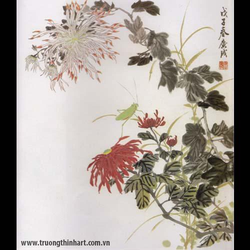 Tranh hoa Cúc - Mã: THC014