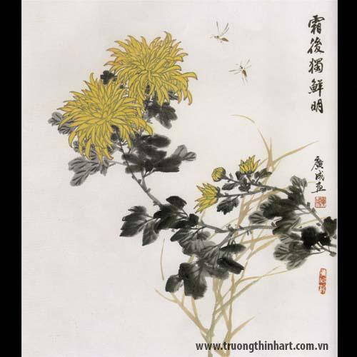 Tranh hoa Cúc - Mã: THC015