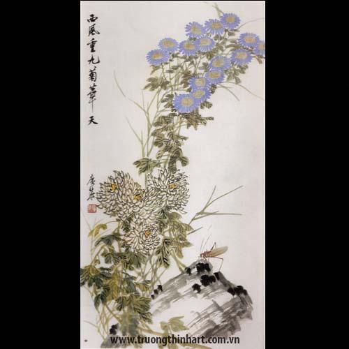 Tranh hoa Cúc - Mã: THC016