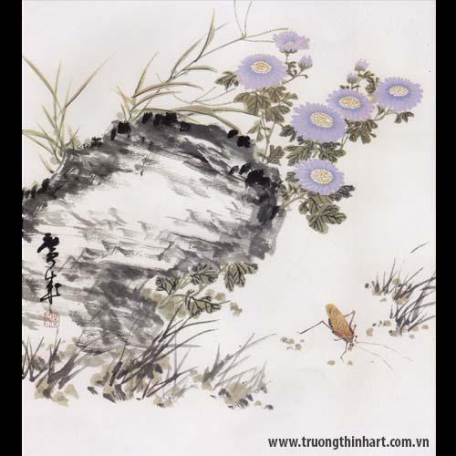 Tranh hoa Cúc - Mã: THC017