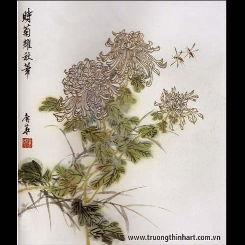 Tranh hoa Cúc - Mã: THC018