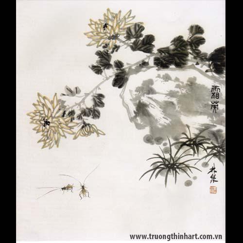 Tranh hoa Cúc - Mã: THC019