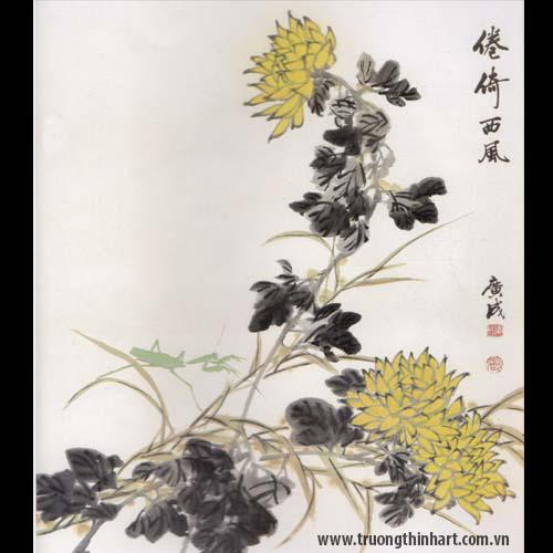 Tranh hoa Cúc - Mã: THC020