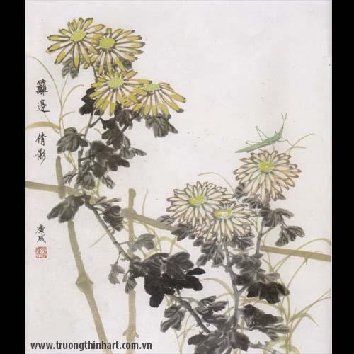 Tranh hoa Cúc - Mã: THC021