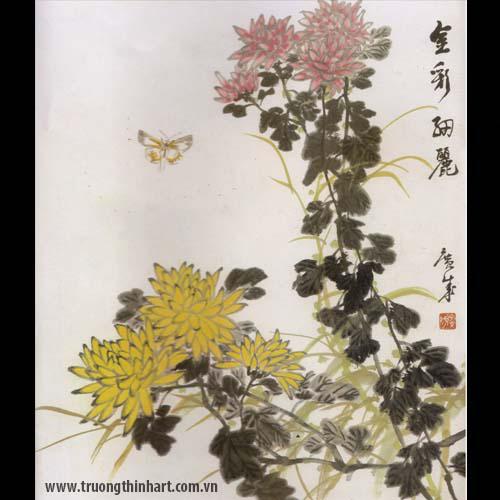 Tranh hoa Cúc - Mã: THC022