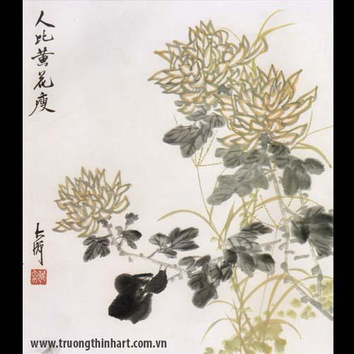 Tranh hoa Cúc - Mã: THC023
