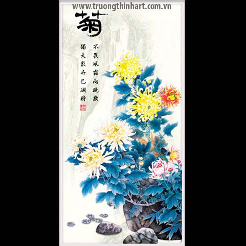 Tranh hoa Cúc - Mã: THC024