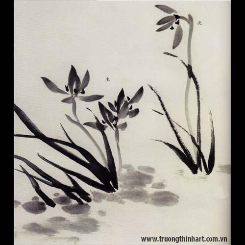 Tranh hoa Lan - Mã: THL001