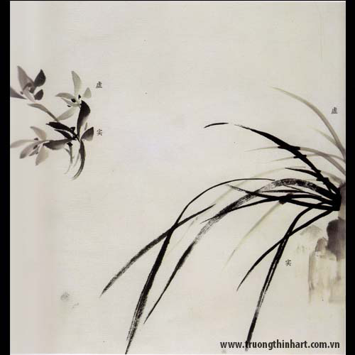 Tranh hoa Lan - Mã: THL002