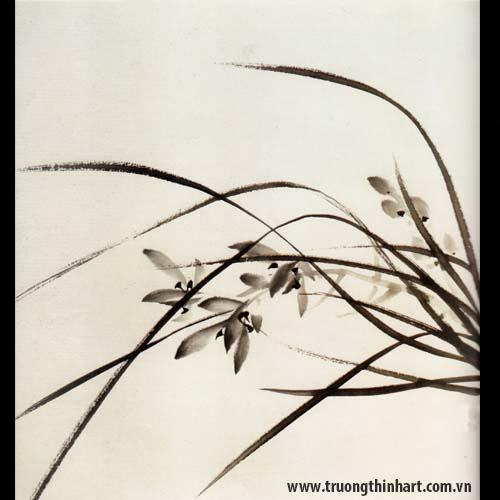 Tranh hoa Lan - Mã: THL003