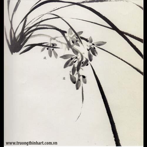 Tranh hoa Lan - Mã: THL004