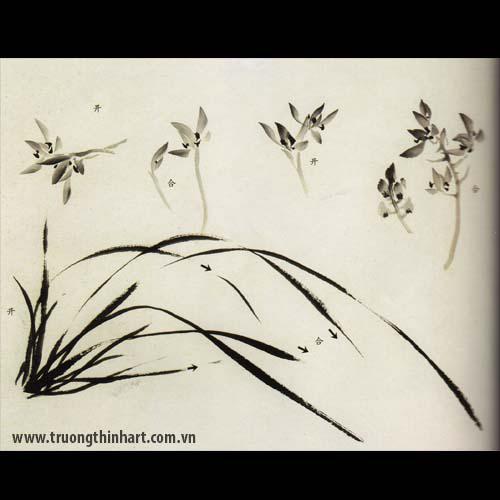Tranh hoa Lan - Mã: THL005