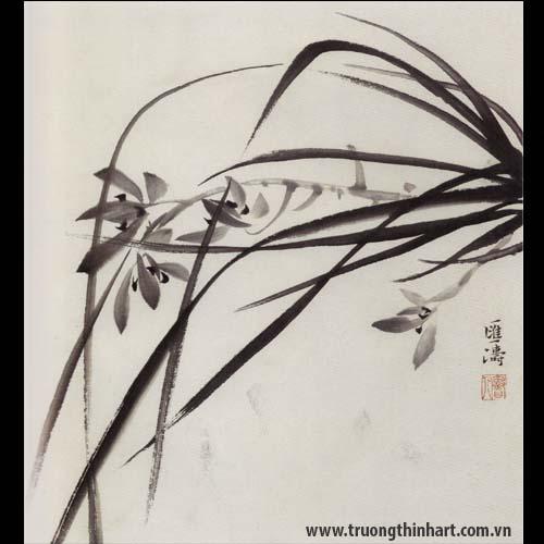 Tranh hoa Lan - Mã: THL006