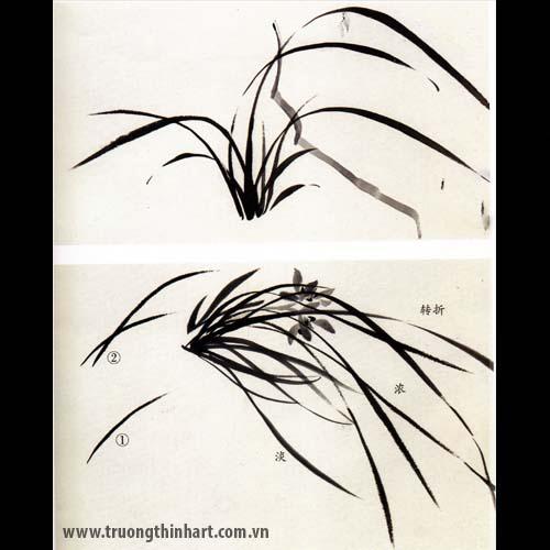 Tranh hoa Lan - Mã: THL007