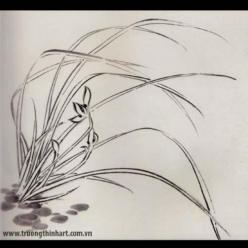 Tranh hoa Lan - Mã: THL009