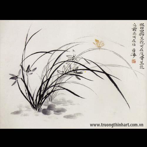 Tranh hoa Lan - Mã: THL010