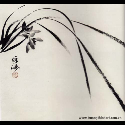 Tranh hoa Lan - Mã: THL011