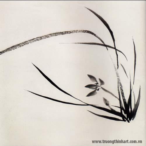 Tranh hoa Lan - Mã: THL012