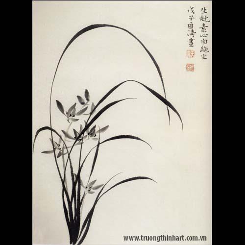 Tranh hoa Lan - Mã: THL014