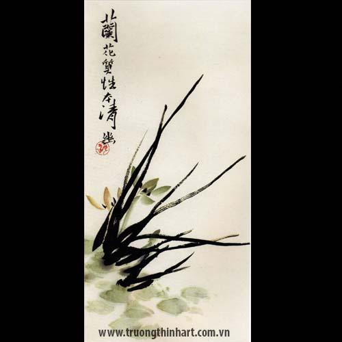 Tranh hoa Lan - Mã: THL016
