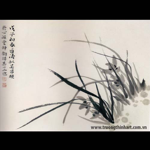 Tranh hoa Lan - Mã: THL017