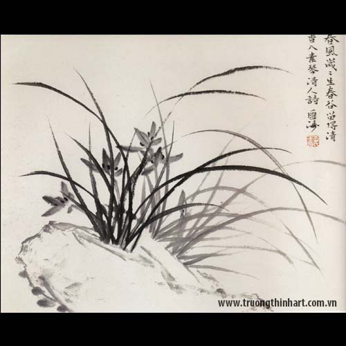 Tranh hoa Lan - Mã: THL018
