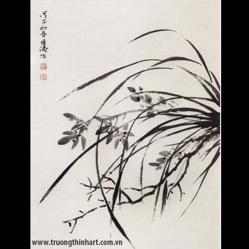 Tranh hoa Lan - Mã: THL019