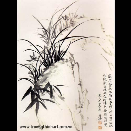 Tranh hoa Lan - Mã: THL020