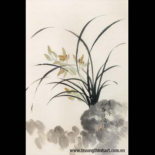 Tranh hoa Lan - Mã: THL021
