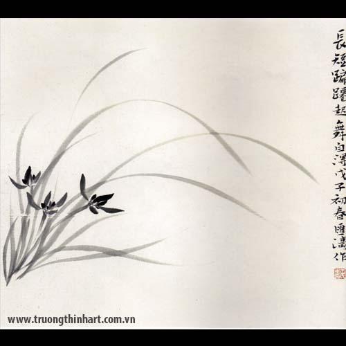 Tranh hoa Lan - Mã: THL022
